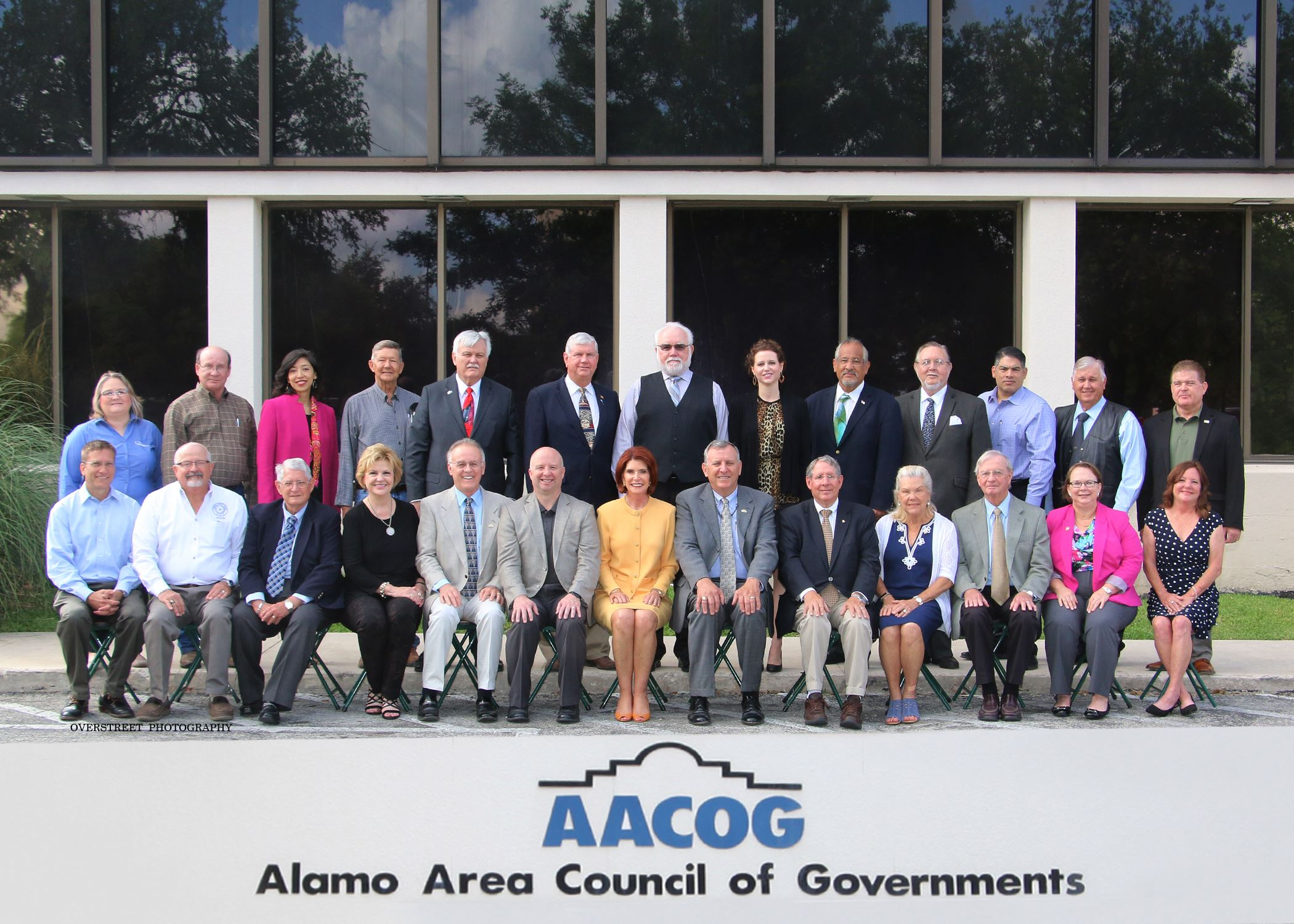 AACOG BOARD 2018  with title  OVERSTREET